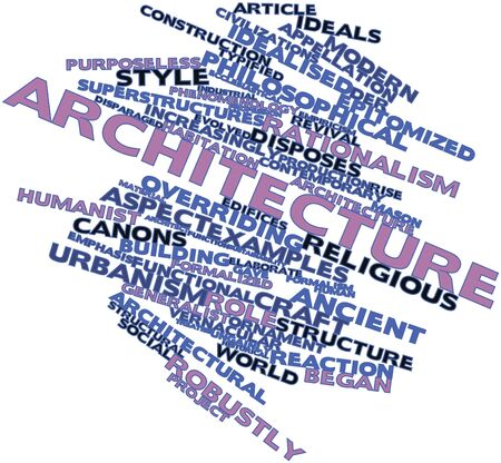 Abstract word cloud for Architecture with related tags and terms Stock Photo - 16084249