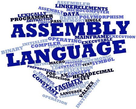 assembler: Abstract word cloud for Assembly language with related tags and terms
