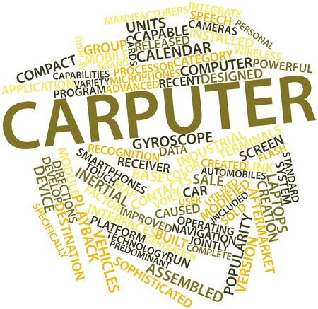 Abstract word cloud for Carputer with related tags and terms Stock Photo - 16084224
