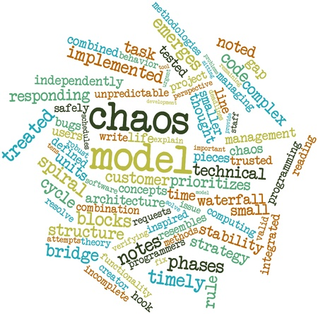Abstract word cloud for Chaos model with related tags and terms photo