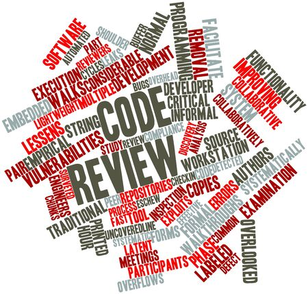 peer: Abstract word cloud for Code review with related tags and terms