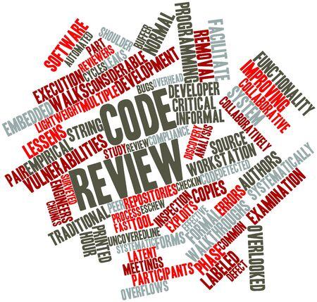 peer to peer: Nube palabra abstracta para revisión de código con las etiquetas y términos relacionados Foto de archivo