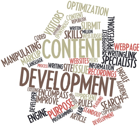 Abstract word cloud for Content development with related tags and terms