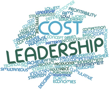 Abstract word cloud for Cost leadership with related tags and terms Stock Photo - 16084103