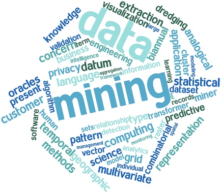 Abstract word cloud for Data mining with related tags and terms Stock Photo - 16084032