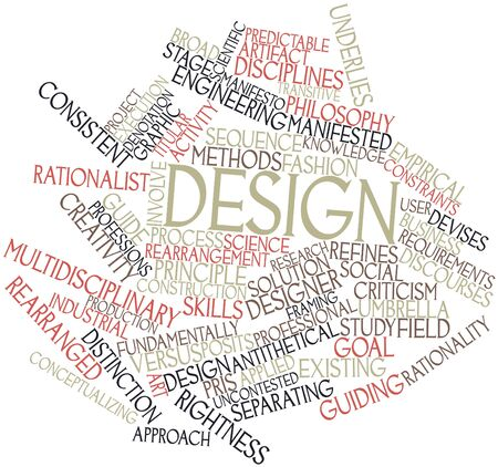 Abstract word cloud for Design with related tags and terms Stock Photo - 16084244