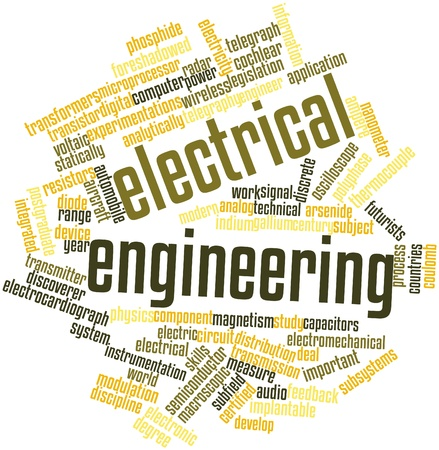 electromagnetism: Abstract word cloud for Electrical engineering with related tags and terms