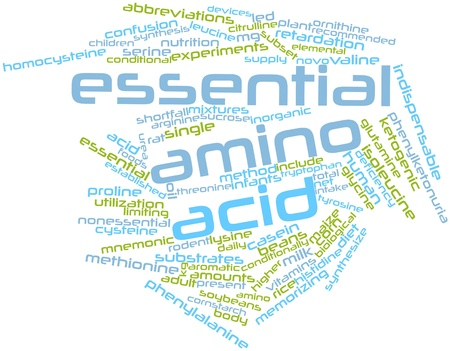 word clouds: Abstract word cloud for Essential amino acid with related tags and terms