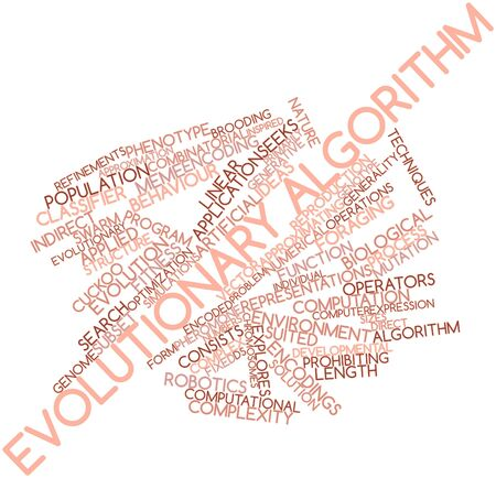 Abstract word cloud for Evolutionary algorithm with related tags and terms Stock Photo - 16084102