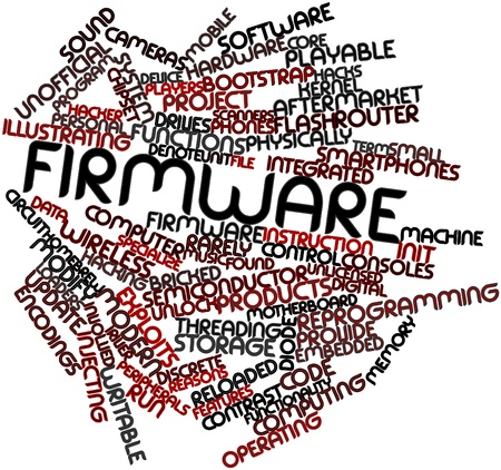 Abstract word cloud for Firmware with related tags and terms