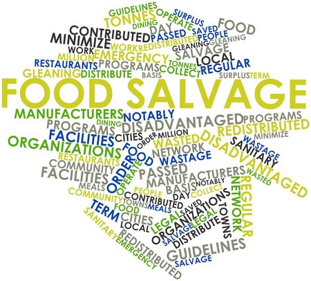 regular people: Abstract word cloud for Food salvage with related tags and terms