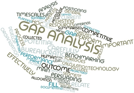 Abstract word cloud for Gap analysis with related tags and terms Stock Photo - 16083975