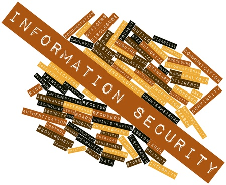 Abstract word cloud for Information security with related tags and terms Stock Photo - 16084108