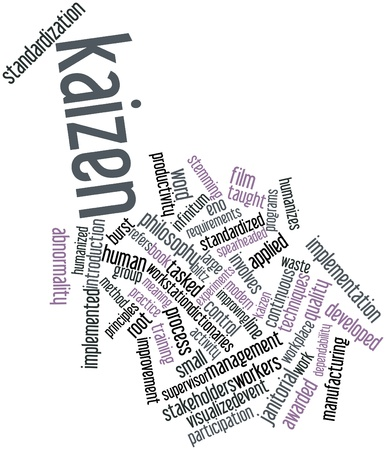 Abstract word cloud for Kaizen with related tags and terms Stock Photo - 16084038
