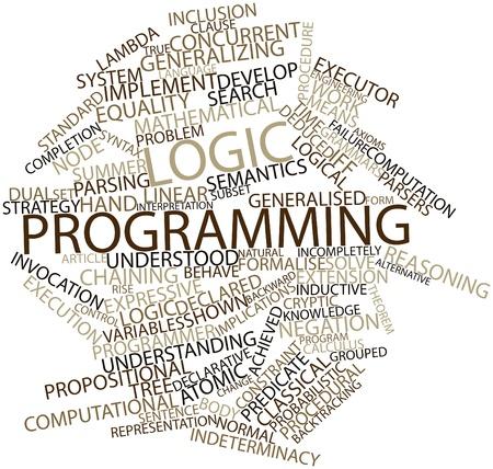 declarative: Word cloud astratto per la programmazione logica con tag correlati e termini Archivio Fotografico
