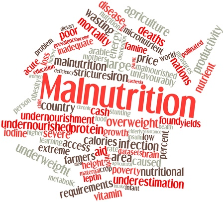 Abstract word cloud for Malnutrition with related tags and terms Stock Photo - 16084209
