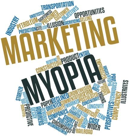 eingeschifft: Abstrakte Wortwolke f�r Marketing Myopie mit verwandte Tags und Begriffe Lizenzfreie Bilder