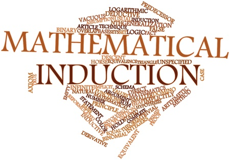 Abstract word cloud for Mathematical induction with related tags and terms Stock Photo - 16083991