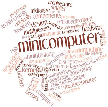 distinguishing: Abstract word cloud for Minicomputer with related tags and terms