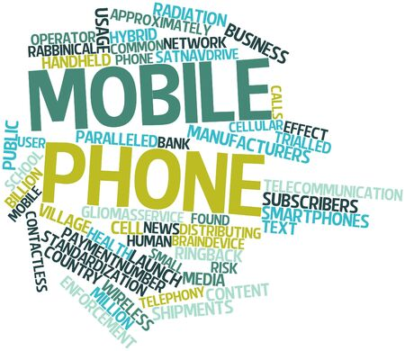Abstract word cloud for Mobile phone with related tags and terms Stock Photo - 16083985