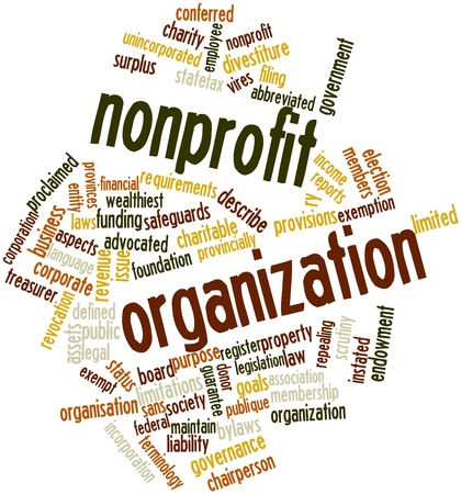 charitable: Abstract word cloud for Nonprofit organization with related tags and terms