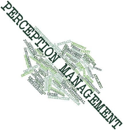 Abstract word cloud for Perception management with related tags and terms Stock Photo - 16084061