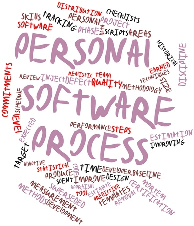 Abstract word cloud for Personal software process with related tags and terms Stock Photo - 16083993
