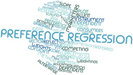 derive: Abstract word cloud for Preference regression with related tags and terms