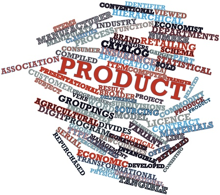 Abstract word cloud for Product with related tags and terms Stock Photo - 16084360