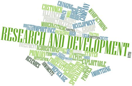 Abstract word cloud for Research and development with related tags and terms Stock Photo - 16084031