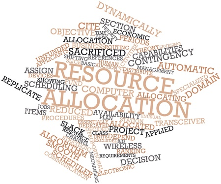 Abstract word cloud for Resource allocation with related tags and terms Stock Photo - 16084051