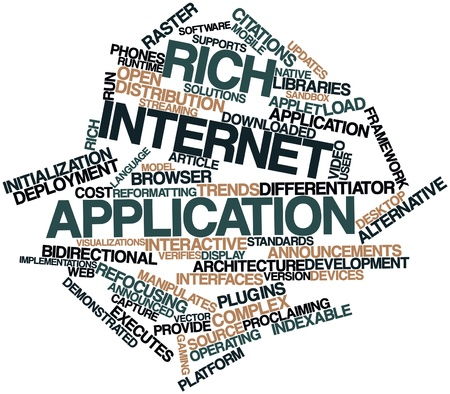 Abstract word cloud for Rich Internet application with related tags and terms