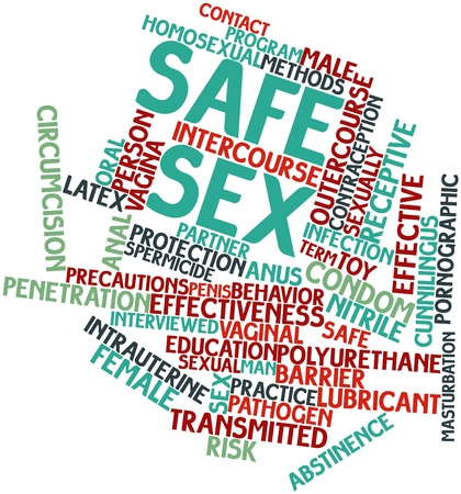 safe sex: Abstract word cloud for Safe sex with related tags and terms