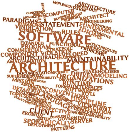 Abstract word cloud for Software architecture with related tags and terms Stock Photo - 16084365