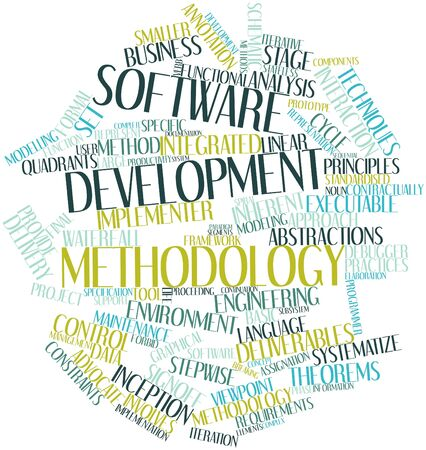 constraints: Abstract word cloud for Software development methodology with related tags and terms