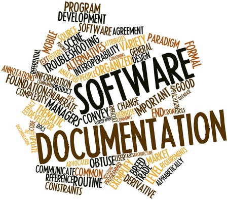 Abstract word cloud for Software documentation with related tags and terms Stock Photo - 16084229