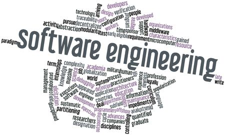 eligible: Abstract word cloud for Software engineering with related tags and terms