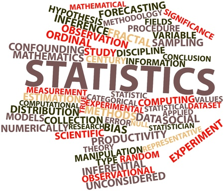 data collection: Abstract word cloud for Statistics with related tags and terms