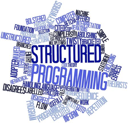 structured: Nube palabra abstracta para la programaci�n estructurado con etiquetas y t�rminos relacionados