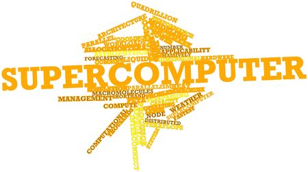Abstract word cloud for Supercomputer with related tags and terms Stock Photo - 16083944