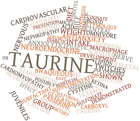 inhibitory: Abstract word cloud for Taurine with related tags and terms