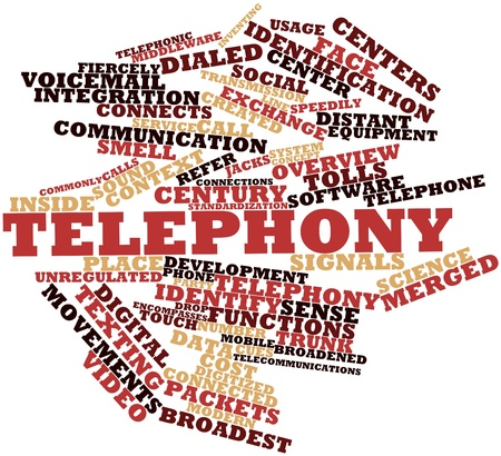telephony: Abstract word cloud for Telephony with related tags and terms