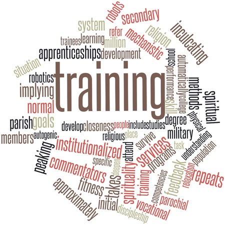 Abstract word cloud for Training with related tags and terms Stock Photo - 16084204