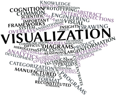 Abstract word cloud for Visualization with related tags and terms Stock Photo - 16084045
