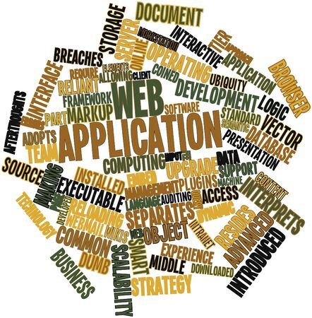 Abstract word cloud for Web application with related tags and terms Stock Photo - 16084368