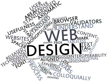 precedence: Abstract word cloud for Web design with related tags and terms
