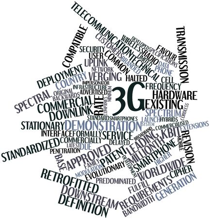 citations: Abstract word cloud for 3G with related tags and terms
