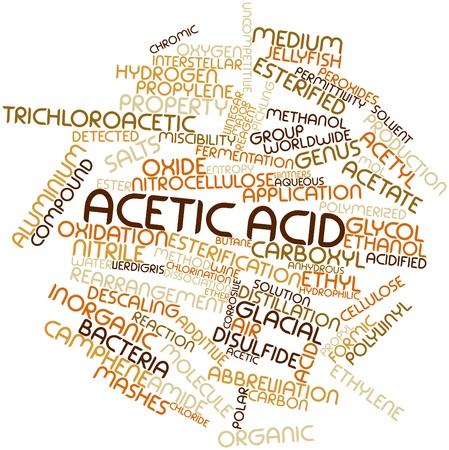 verdigris: Abstract word cloud for Acetic acid with related tags and terms