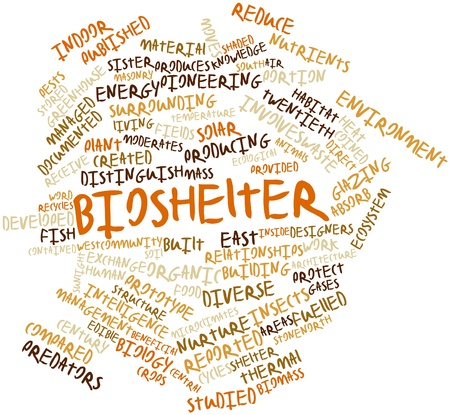 compared: Abstract word cloud for Bioshelter with related tags and terms