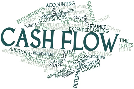 Abstract word cloud for Cash flow with related tags and terms Stock Photo - 16413755
